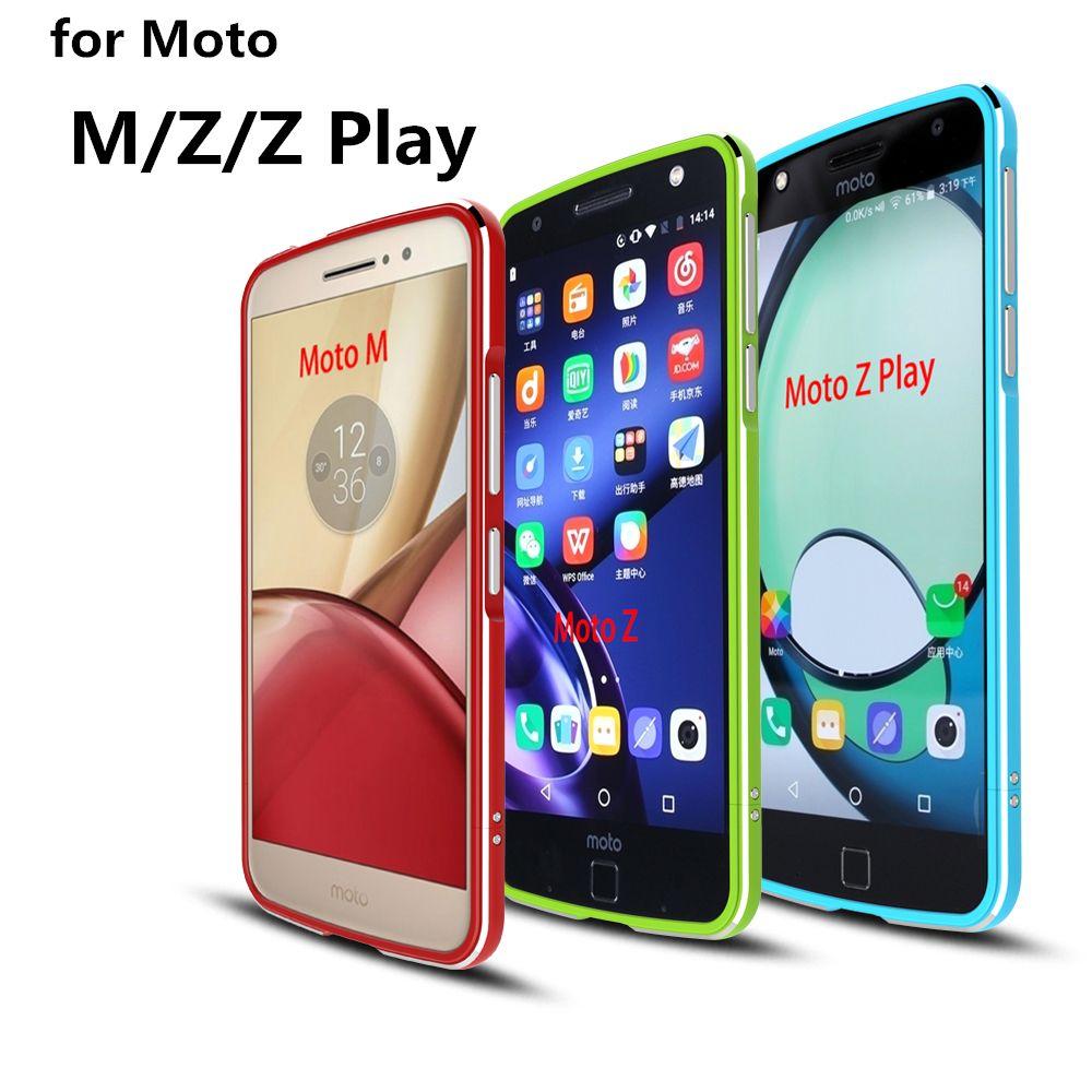 Cas Pour Motorola Moto Z Luxe De Luxe Ultra Mince en aluminium Pare-chocs Pour Motorola Moto Z Jouer, M, cas