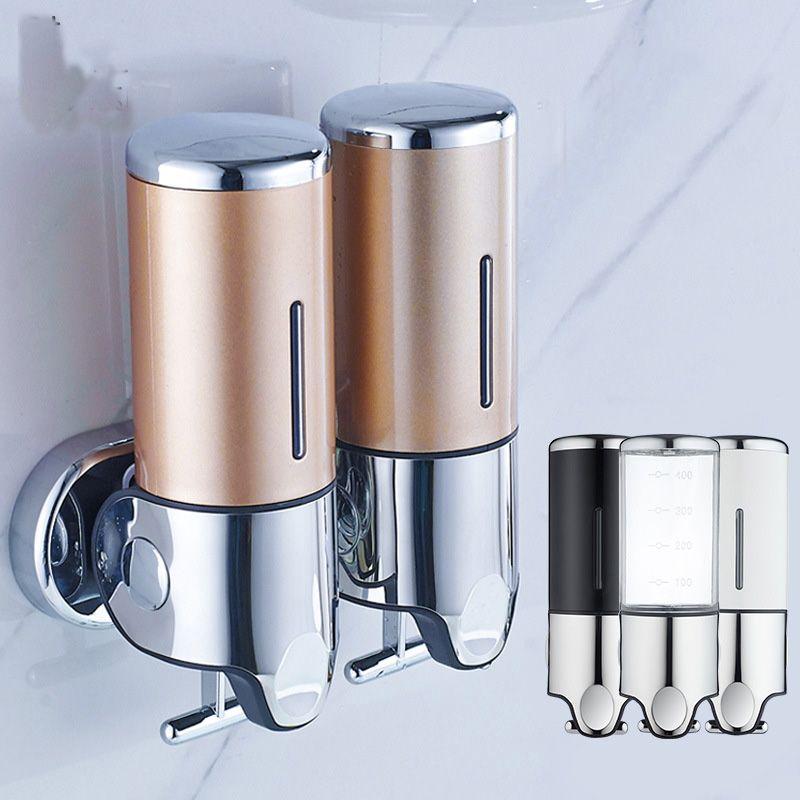 YFGXBHMX Hotel Bathroom Hand Soap Dispenser Home Kitchen Bathroom Stainless Steel Hand Sanitizer Bottle Shower Gel Soap Box