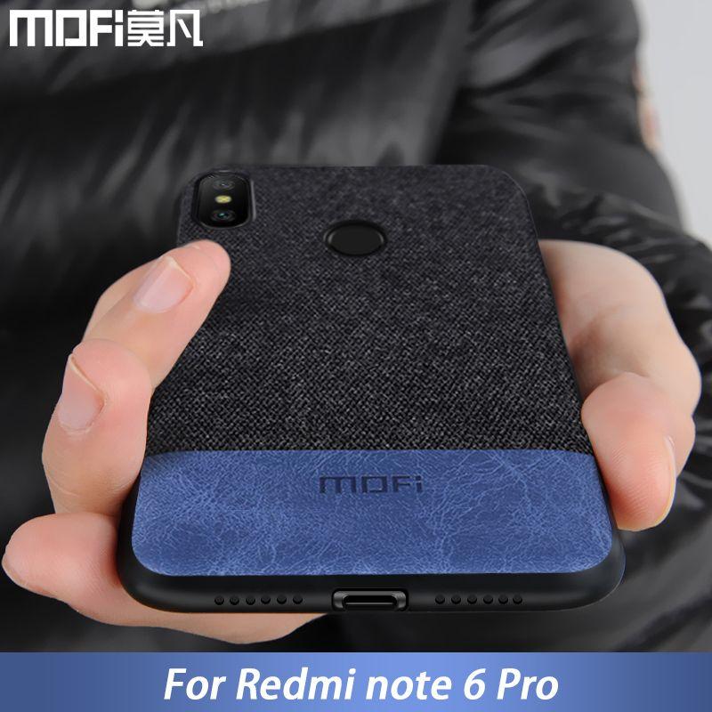 Pour Xiaomi Redmi Note 6 housse note6 Mondial Version de couverture arrière de silicone bord tissu cas coque MOFi Redmi note 6 pro cas