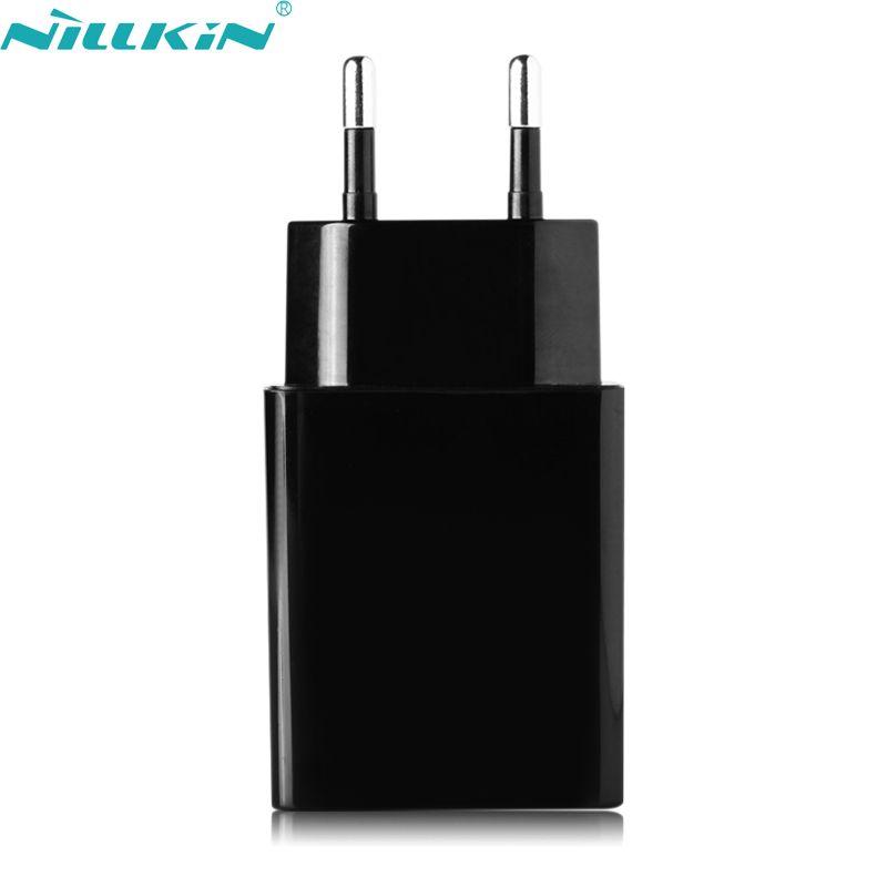 Original nillkin 5 v 2a universal mobile téléphone chargeur adaptateur ue europe standard usb plug power mur de charge pour iphone samsung
