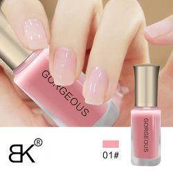 BK  Nude Series Translucent Nail Polish Like Jelly Nail Lacquer 12 Colors Long Lasting Enamel Paint 10ml