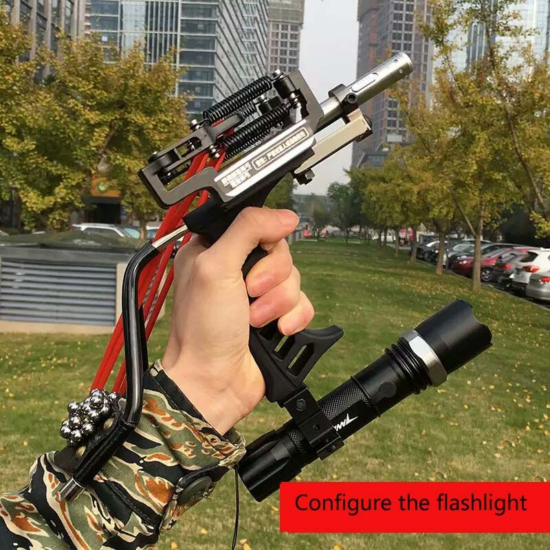 New Multifunction Slingshot Shooter with Arrow Rest Powful Hunting Outdoor Aluminum alloy Rubber Band Catapult Bow Sling shot