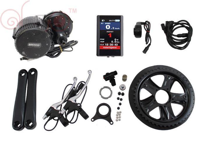 Freies Verschiffen Bafang 48 V 350 Watt BBS01 BB68 mm Mitte Antriebsmotor Ebike Kit LCD 850C oder C965 Display Elektrische Fahrrad Controller Kits