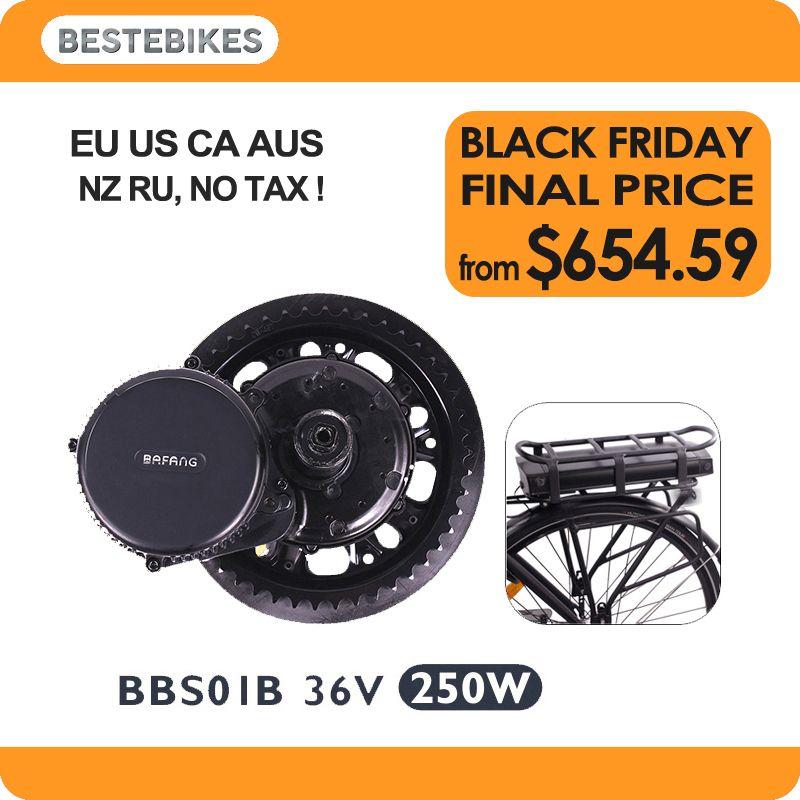 BBS01B 36V 250w bafang elektrische fiets elektrikli bisiklet bicicleta electrica rear rack battery 36v17ah/20.4ah EU US NO TAX