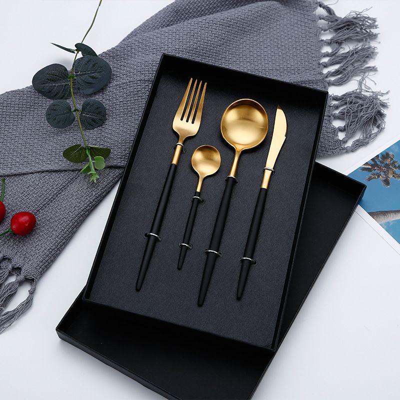 Offre spéciale dîner ensemble couverts couteaux fourchettes cuillères bouffon cuisine vaisselle acier inoxydable maison fête vaisselle ensemble