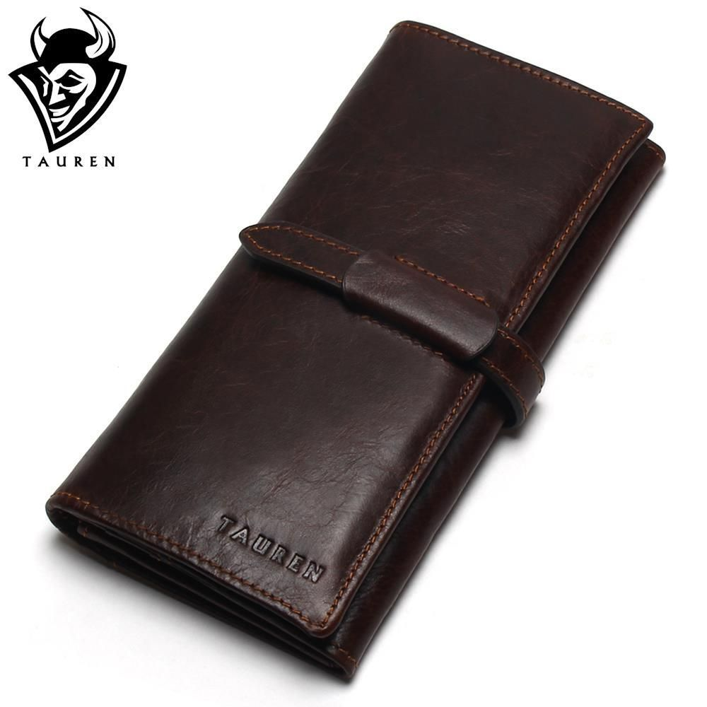 New Luxury Brand 100% Top Genuine Cowhide Leather <font><b>High</b></font> Quality Men Long Wallet Coin Purse Vintage Designer Male Carteira Wallets