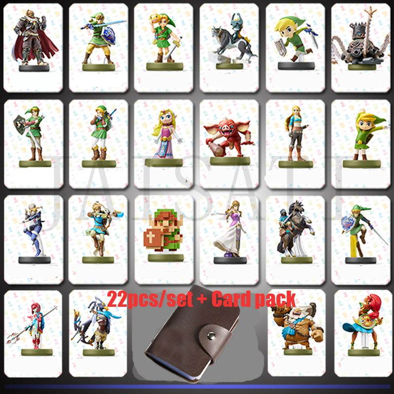 22 Pcs Game New Data Collection Tag NFC Cards 20 heart Wolf Link For Legend of Zelda Breath of the wild NS Switch NFC Breath
