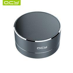 QCY A10 Nirkabel Bluetooth Speaker Logam Mini Portable Subwoof Suara dengan MIC TF Kartu FM Radio AUX MP3 Bermain Musik loudspeaker