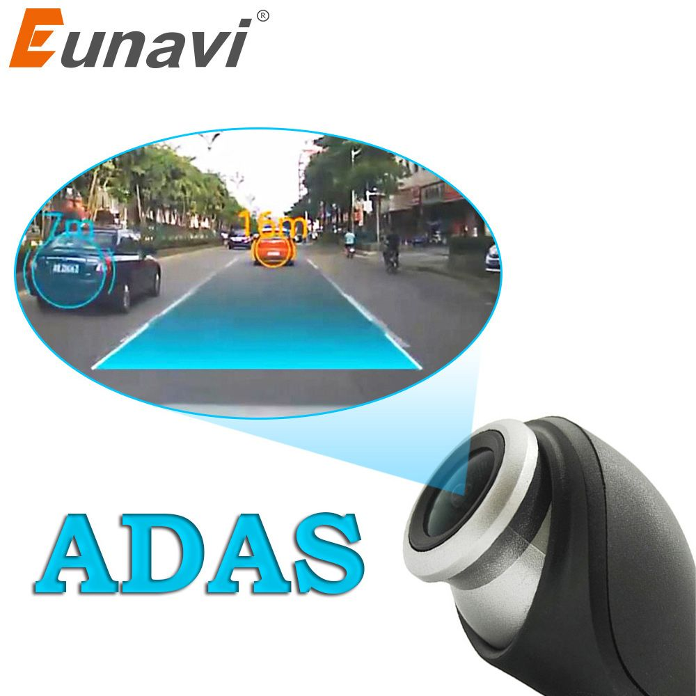 Eunavi Car DVR Camera USB connector Vehicle HD 1280 * 720P DVRs for Android OS system mini Car Driving Recorder Camera with ADAS