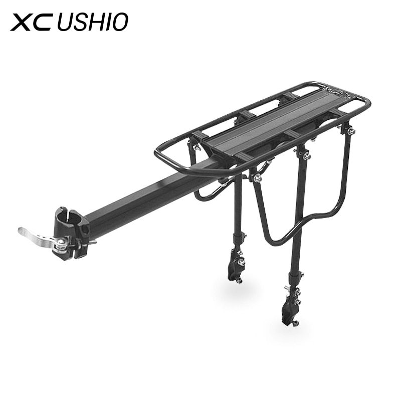 Alliage d'aluminium universel 90 kg capacité de chargement maximale vélo vélo vélo siège arrière porte-bagages VTT accessoires de vélo
