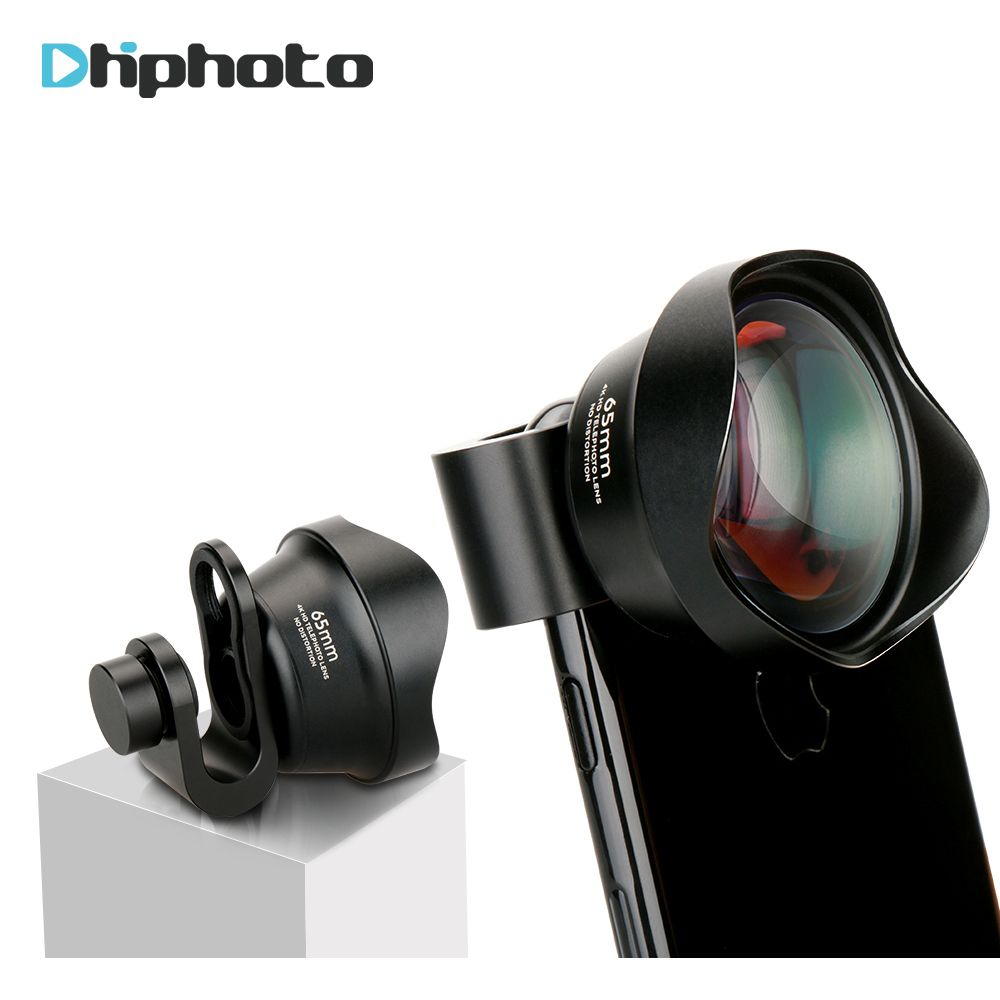 Ulanzi Mobile Phone Optical 65mm 4K HD 2X Telephoto Lens No Distortion Camera Lenses with Universal Lens Clip for iPhone Samsung