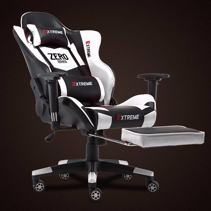 New Arrival Racing Synthetic Leather Gaming Chair Internet Cafes WCG Computer Play Armchair Lying Household Chair