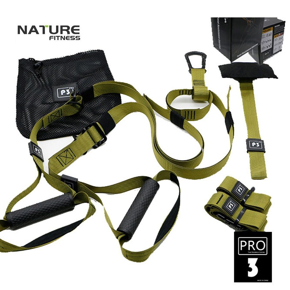 Green P3 Trainer Sport Resistance Bands Strength Training Fitness Equipment For Gym Workout Body Weight With Colour BOX