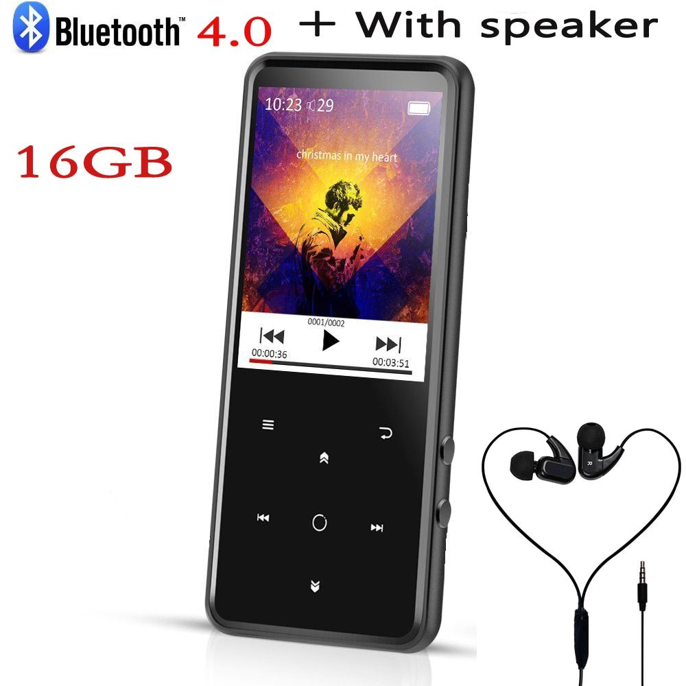 2.4 In Screen 16GB Lossles Music Player Supports Bluetooth 4.0,SD Card (Support Up to128GB),FM Radio,Built-in Speaker,MP4 player