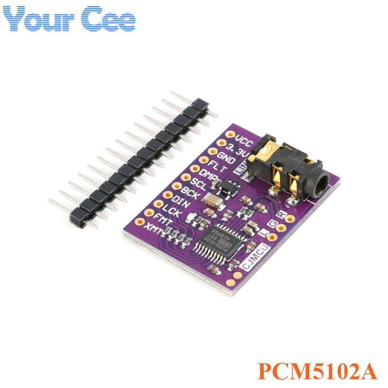 Interface I2S PCM5102A Decoder Stereo DAC Module Audio Digital Converter PCM5102 PLL Voice Module with 3.5mm Headphone Holder