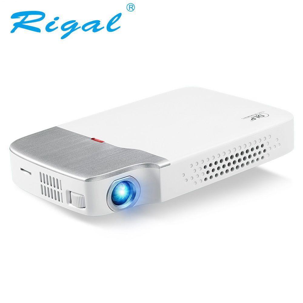 Rigal RD605 DLP Mini Projektor Android 5.1 (Optional) wiFi Bluetooth 4,0 Batterie HDMI Aktive 3D Video LED Projektor 2500 Lumen
