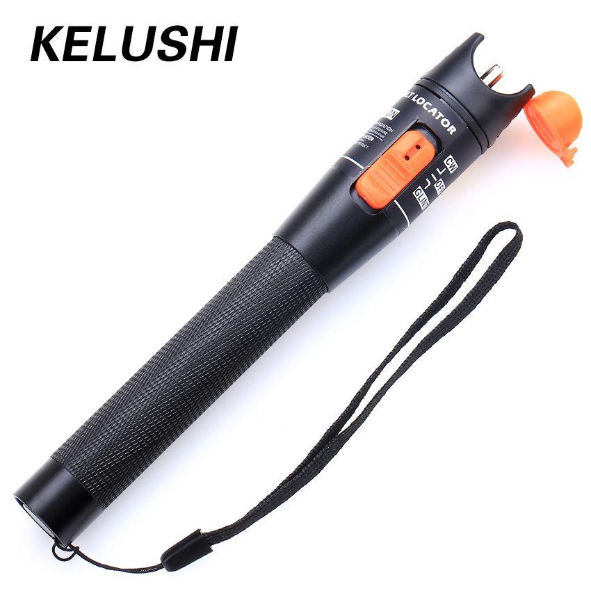 KELUSHI gros prix 10 mw Câble À Fiber Optique Testeur Rouge Lumière Laser Localisateur visuel de défauts Outil de Test avec 2.5mm connecteur