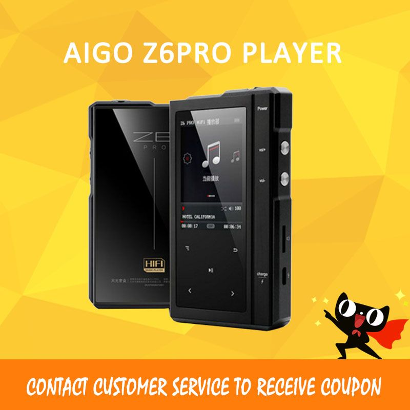 ASD Moonlight AIGO Z6Pro Hifi Music Player Hard DSD MP3 Player ES9018Q2C DAC Dual-Core CPU+Leather Case NXPLPC4357 Max32GB