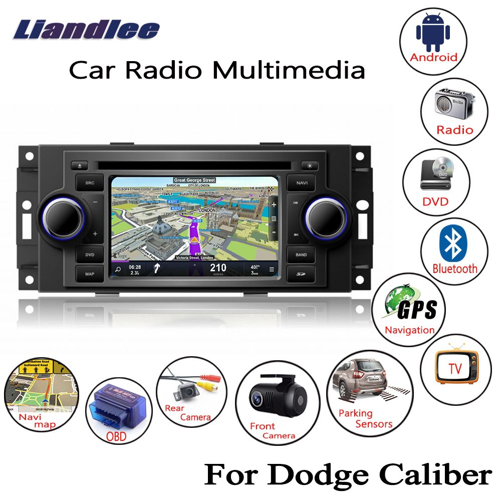 Liandlee For Dodge Caliber 2007~2009 Android Car Radio CD DVD Player GPS Navi Navigation Maps Camera OBD TV Screen BT Media