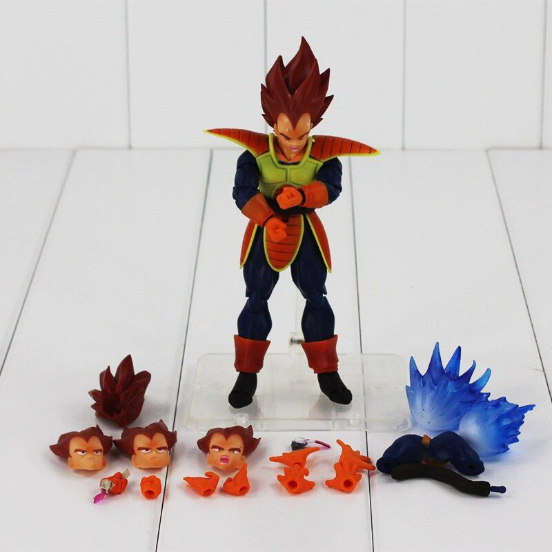 16cm Changeable style New Arrival Dragon Ball Z SHFiguarts red Hair Battle Vegeta Movable PVC Action Figure Toy