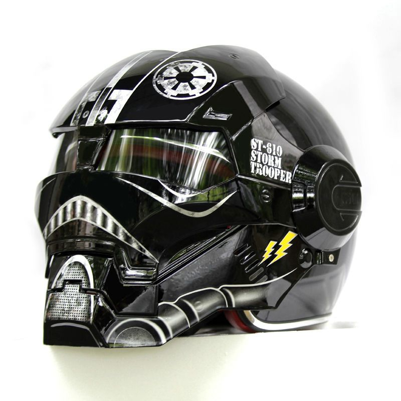 NEW Black Star Wars MASEI IRONMAN Iron Man helm motorrad helm hälfte jethelm 610 ABS casque motocross