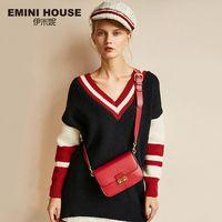 Эмини дом Винтаж клапаном замка сумки Разделение кожа Для женщин сумка моды Crossbody сумки Высокое качество Для женщин сумка