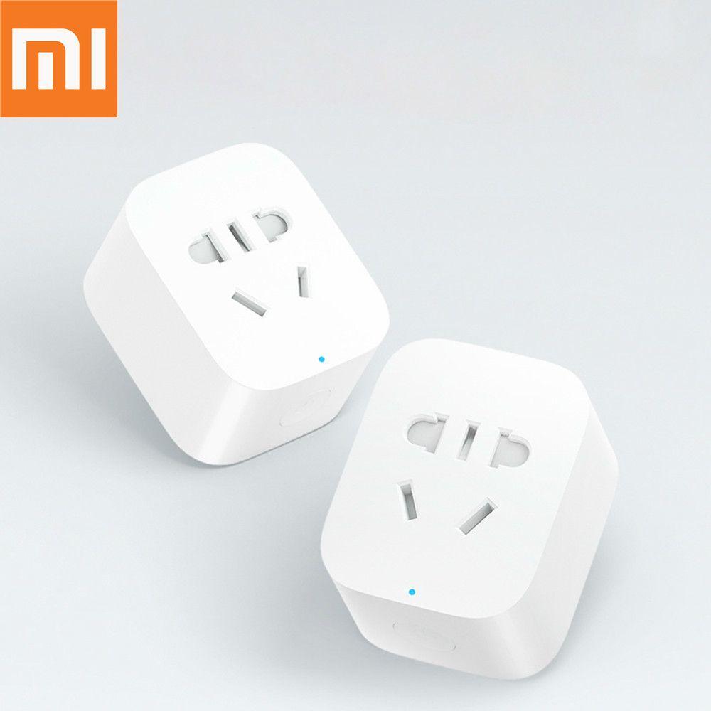 Original Xiaomi prise de courant à la maison intelligente Bacic WiFi sans fil adaptateur de prise à distance alimentation et arrêt avec téléphone