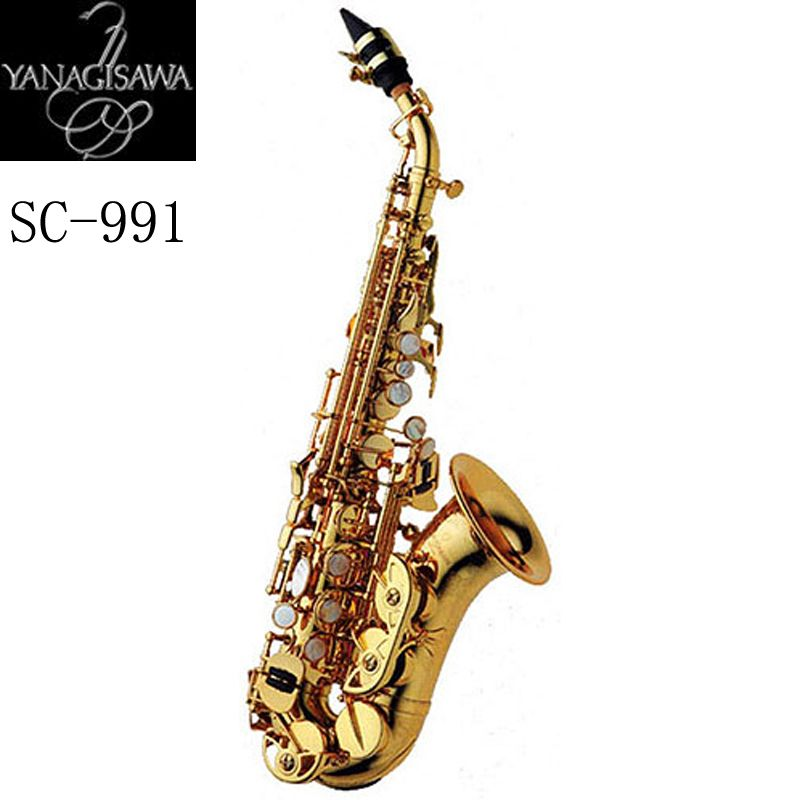 New arrive Japan Yanagisawa Gold Lacquer Soprano Saxophone B-flat Saxophone Musical Professional Fast Shipping