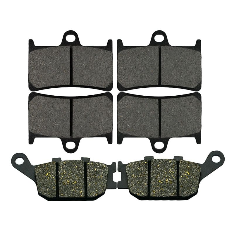 AHL Motorcycle Front And Rear Brake Pads For Yamaha YZF R6 600 (2003-2015) YZF R1 1000 (2004-2006) FZ6 (2007-2009)