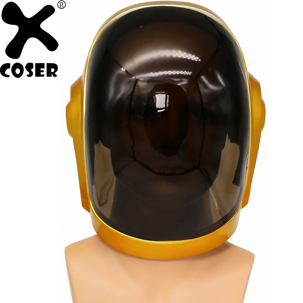 XCOSER Daft Punk Guy-Manuel Full Head Helmet Cosplay Props Festival Holiday Party Cosplay Cool Helmets Costume Accessories