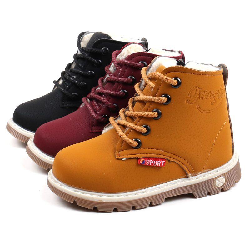 Hiver bébé au chaud neige bottes chaussures confortables en peluche petits garçons filles bottes taille 21-30 enfant de neige d'hiver bottes pour Garçons Chaussures