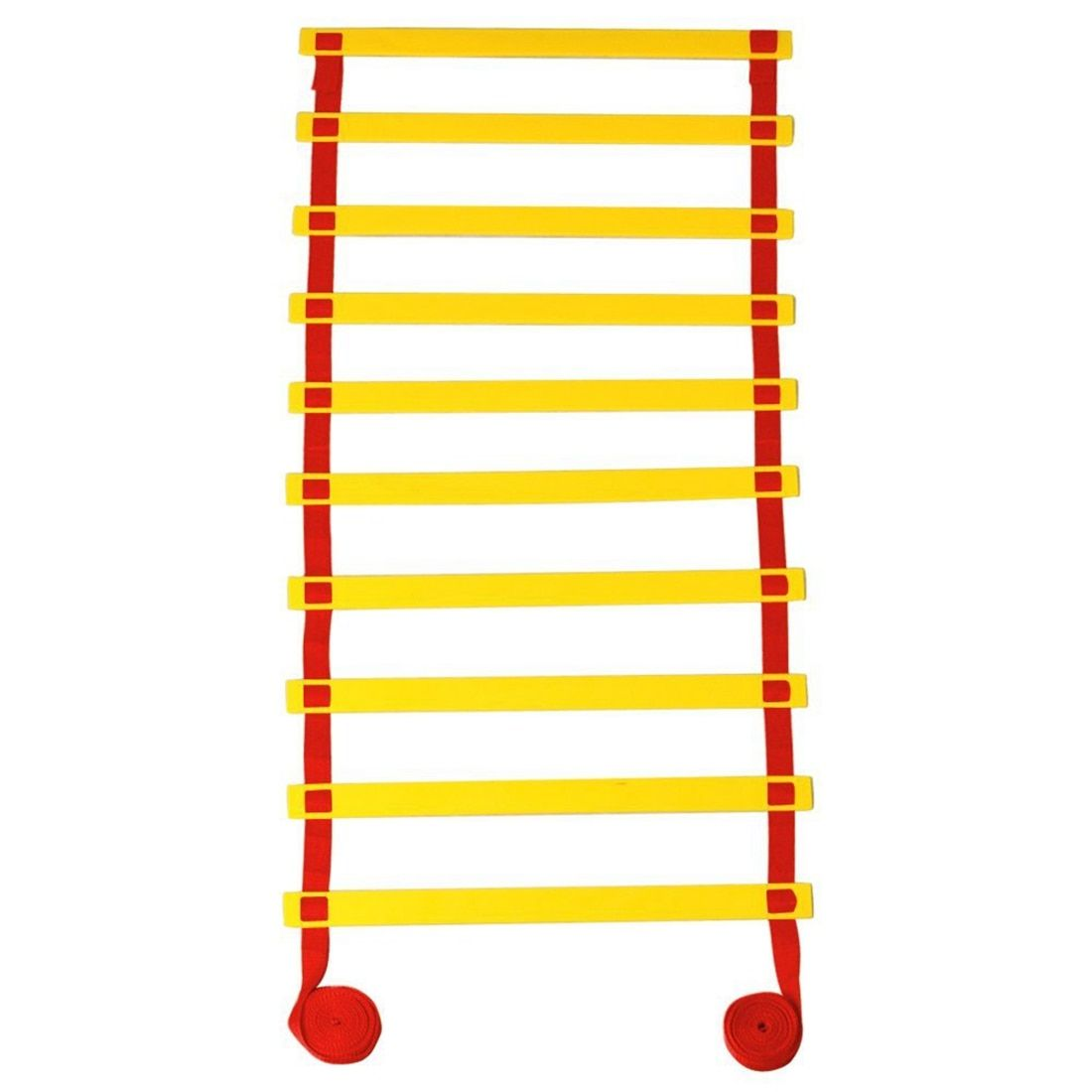 10-rung Sports Agility Ladder For Speed Football Fitness Feet Training Training Ladder Fast Footwork Agility Drills Aid (5M red)