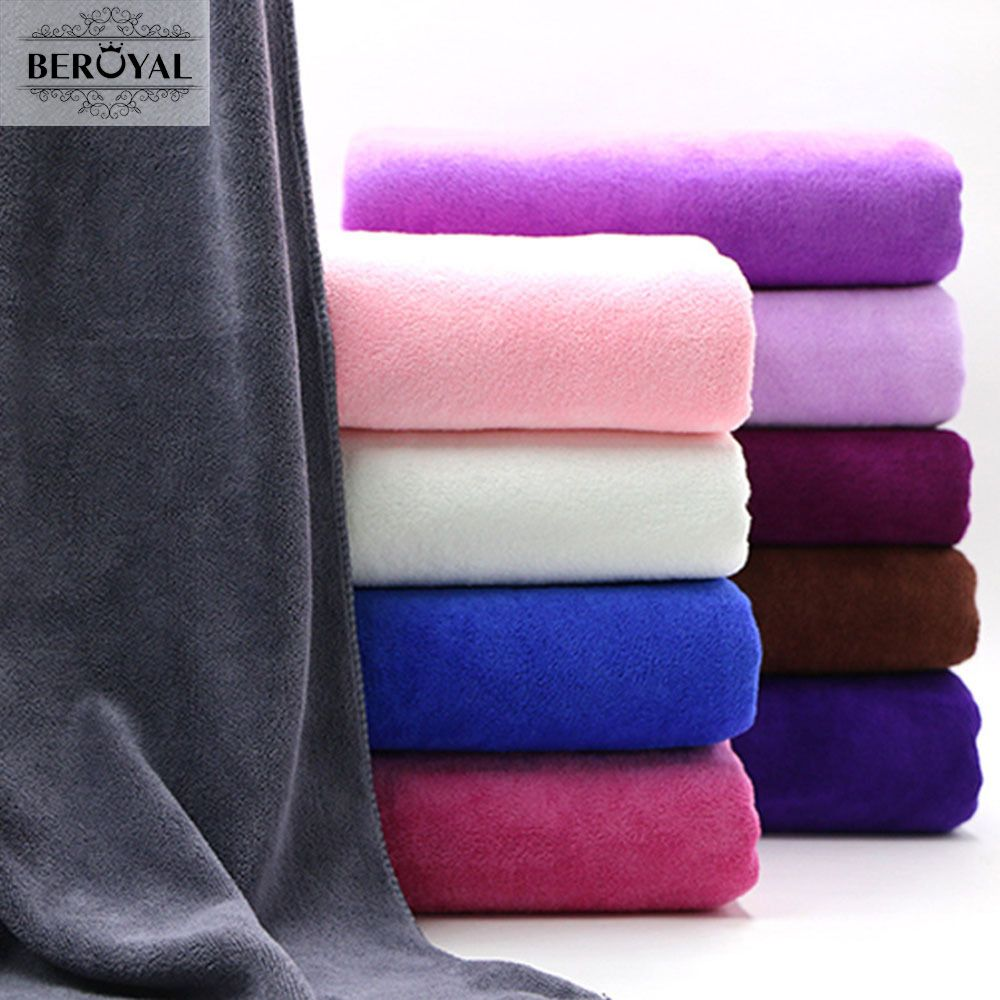 Beroyal Brand Microfiber Bath Towels for Adults 80*180cm Super Absorbent Body <font><b>Bathroom</b></font> Towels Large Luxury Summer Beach Towel