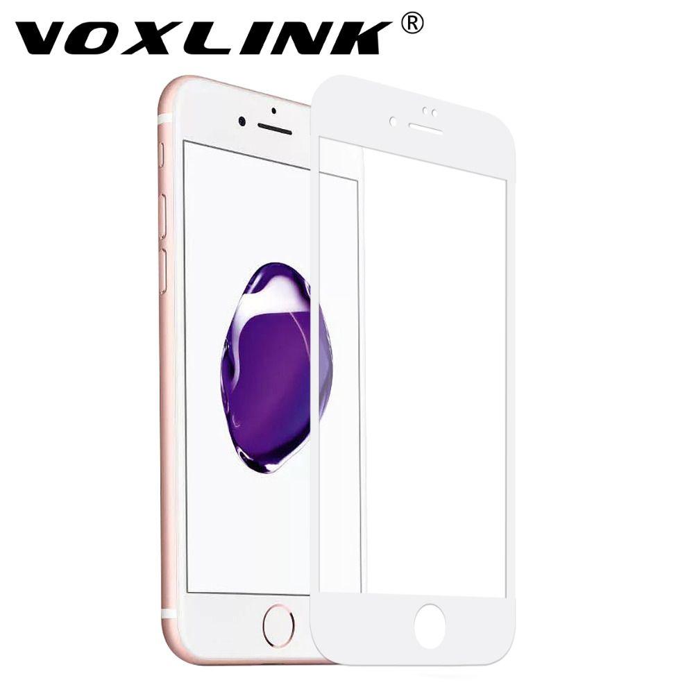 Pour iPhone 6/6 s Protecteur D'écran, VOXLINK Ultra-mince 5D Pleine Couverture HD Crystal Clear Trempé Protecteur D'écran en verre