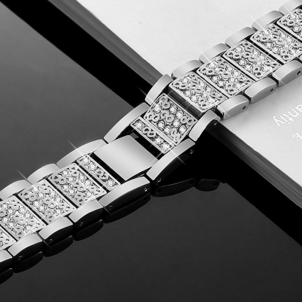 PUCATE Metal Watchband 18mm 20mm 22mm Stainless Steel Bracelet Watch Band Strap watch