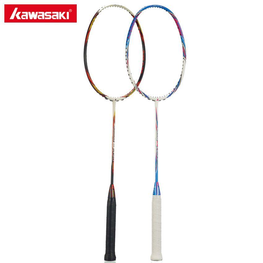 100% Original Kawasaki Carbon Badminton Schläger Ball Control Typ Schläger für Primäre Spieler Einzelnen Schläger Erkunden X160