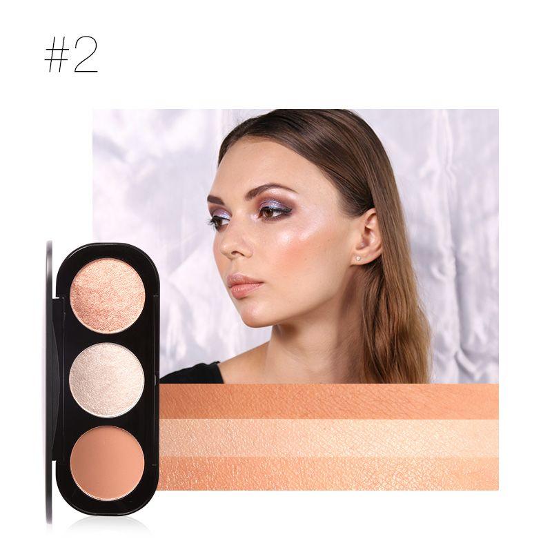 Focallure 3 Couleur palette de blushes Lisse Glow Cheek Couleur Naturel Maquillage Minéral Soyeux Blush Surligneur Poudre