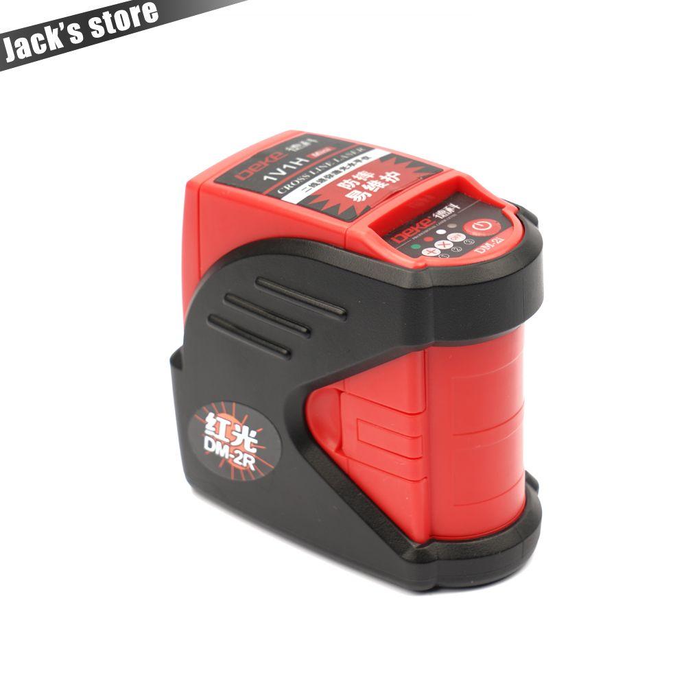 Mini 2 lignes niveau laser auto-nivellement Croix Niveau Laser 1V1H Rouge 2 ligne 1 point