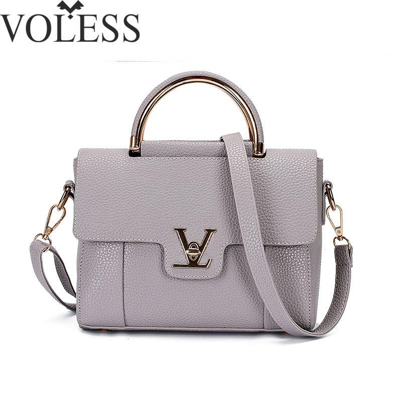2018 V Letters Saffiano handbags Women Leather Commuter Office Ring tote bag Women's <font><b>Pouch</b></font> Bolsas Famous Ladys V Flap bag