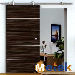 Acier inoxydable en bois de grange coulissante portes matériel