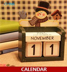 Nouvelle Maison Décoratif Calendrier De Bureau, quatre Saisons En Bois Artisanat Calendrier Universel, calendrier perpétuel, BRICOLAGE en bois calendrier