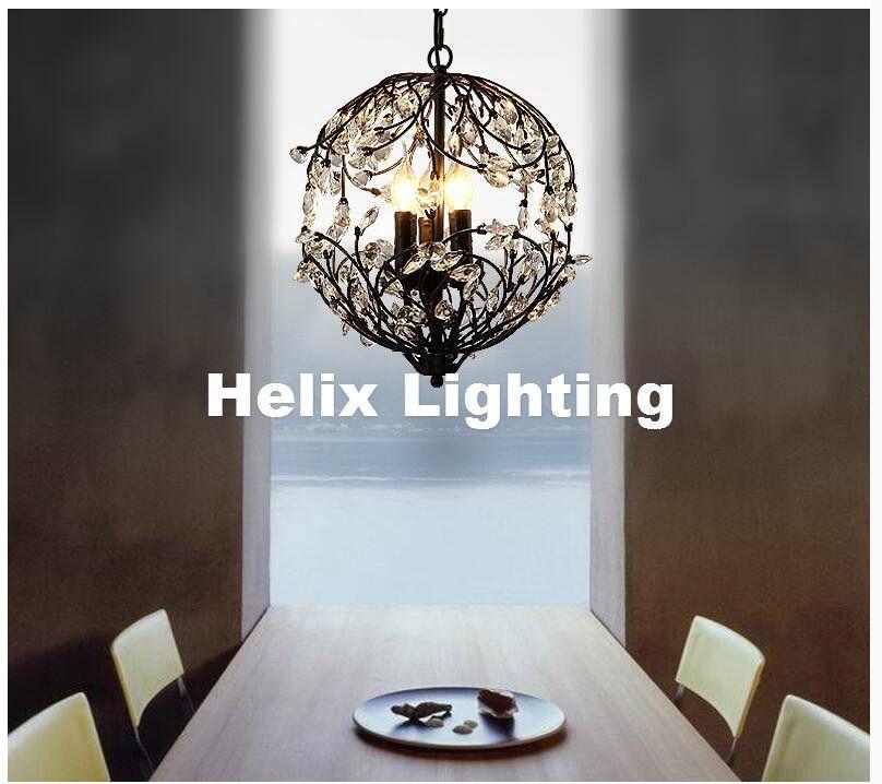 Nordic d33cm schwarz goldene k9 transparente küche pendelleuchte café bar licht led lüster kristall pendelleuchte beleuchtung
