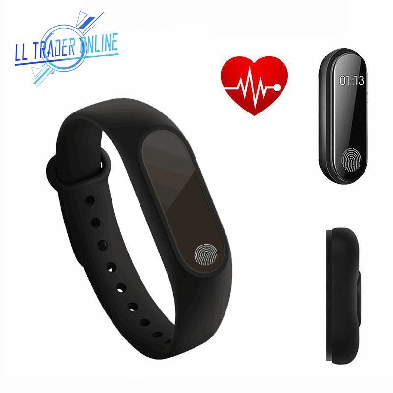 LL HÄNDLER Herzfrequenz Schlaf Monitor Armband Smart Uhr Bluetooth 4,0 Gesundheit Sport Fitness Zähler Tracker Armband Smart Band