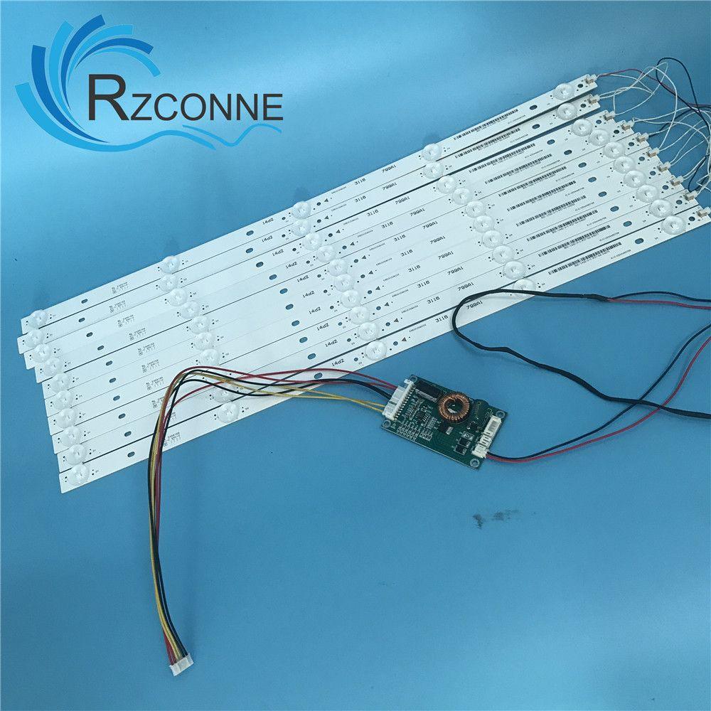 10 stücke 500mm Led-hintergrundbeleuchtung streifen 5 Lampen kit Bord Fliter für 48 49 50 zoll LCD LED TV 12 v eingang billboard Update CCFL