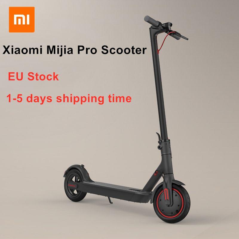 EU Lager Xiaomi Mijia Pro Smart Elektrische Roller Faltbare KickScooter 45 KM Laufleistung 25 km/h Mini Zwei Räder Hoverboard Skateboard