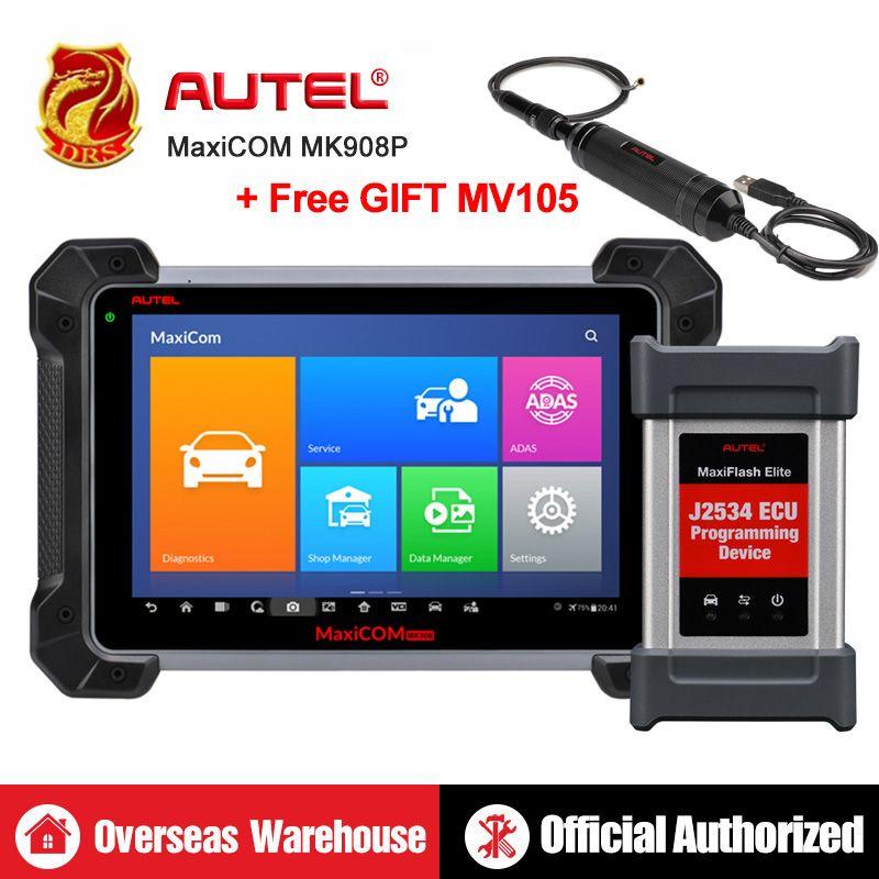 Autel MaxiCOM MK908P MS908P Automotive Diagnostic Tool OBD2 Scanner Alle System ECU programmierung J2534 Programmierer PK Maxisys Elite