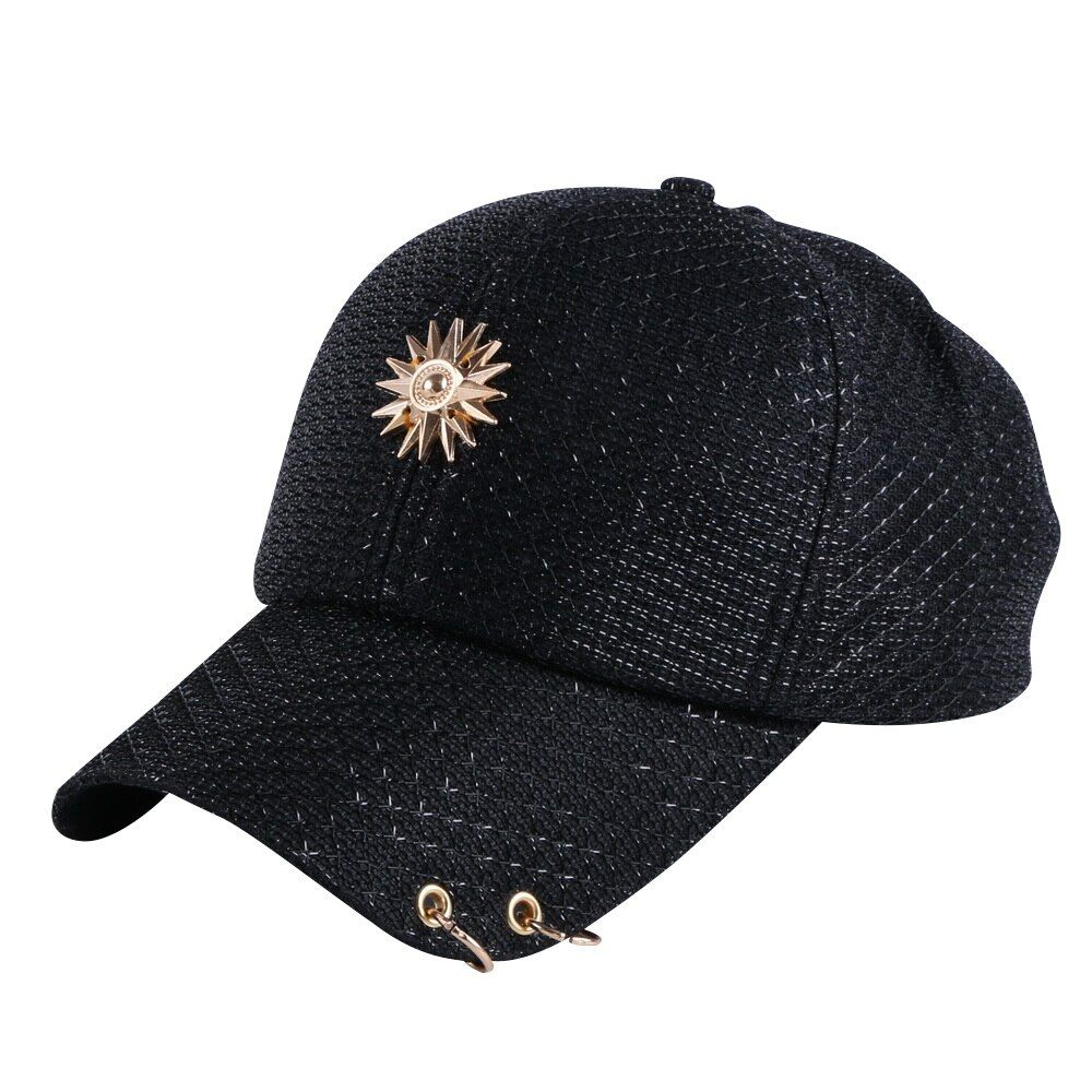 girl women beauty summer baseball cap brand hat bling luxury sequin casual floral snapback hip hop snap back hats woman caps