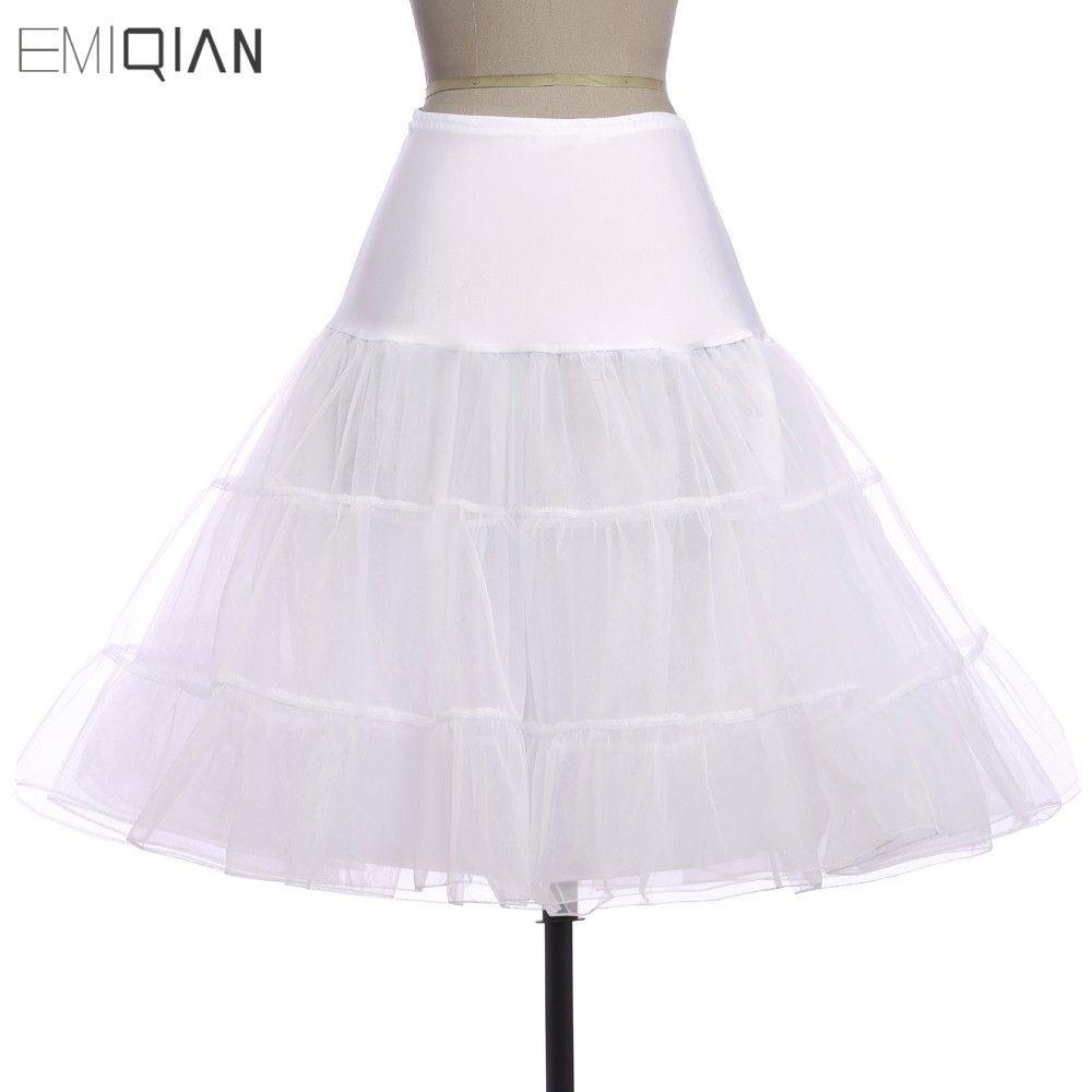Tutus Negro Blanco Rojo Corto Crinolina Enagua Enagua para los Vestidos De Coctel Corto Vestidos de Baile