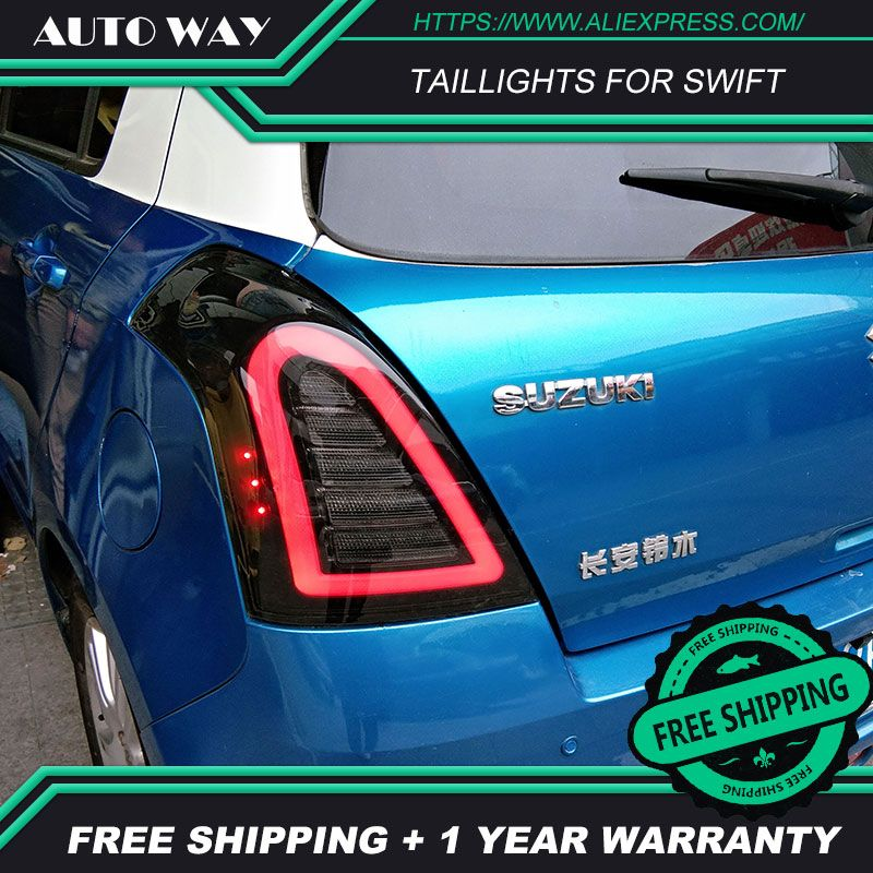 Car Styling tail lights case for Suzuki Swift taillights 2005-2014 LED Tail Lamp taillight Swift TAIL Lights All LED Rear Lamp
