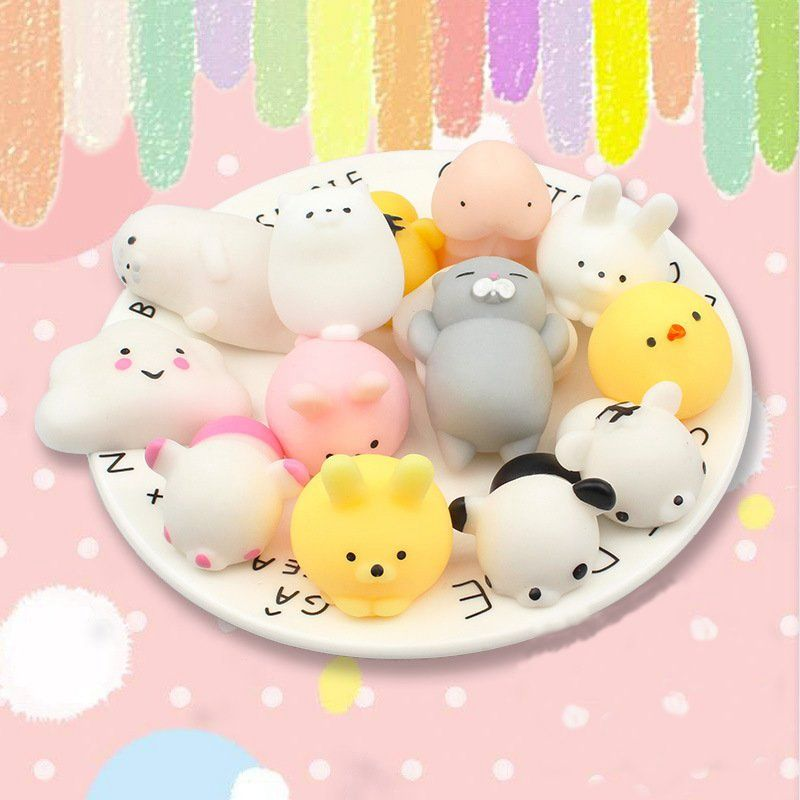 25 PCS Random For Squishy Lot Slow Rising Kawaii Cute Animal Squeeze Hand Toy Phone Straps